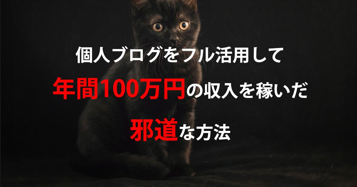 個人ブログで年間100万円稼いだ邪道な方法