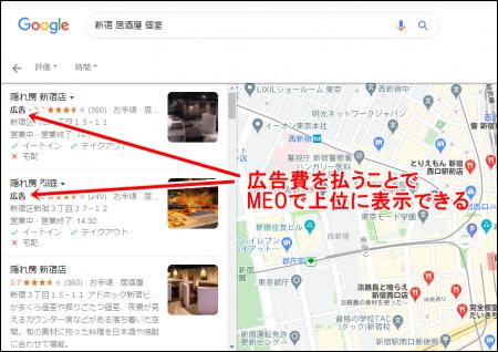 Googleマップの広告の仕組み